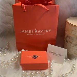 James Avery charm pendant butterfly heart 925 euc